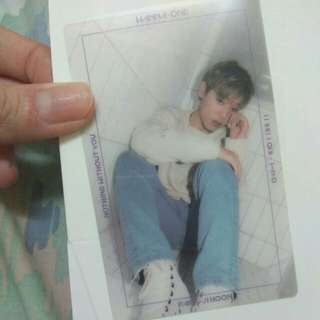 WTS NOTHING WITHOUT YOU Park Jihoon Photocard