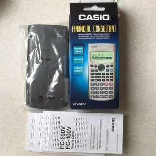 Casio FC-100V Financial Calculator for RES Exam