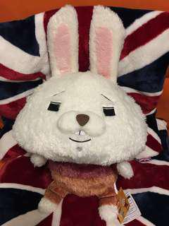 超軟毛 紙兔 毛公仔 日本景品