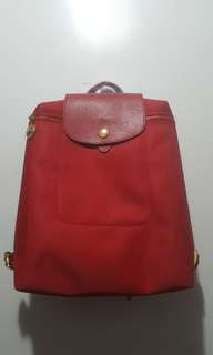 Longchamp Backpack (red)