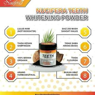 Nucifera Charcoal Carbon Teeth Whitener