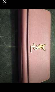 Ysl authentic pink clutch