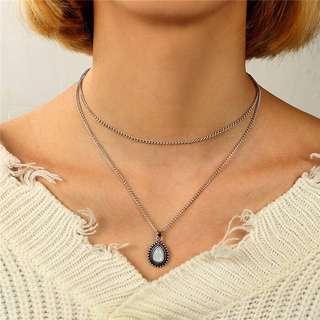"""""""Demetria"""" Teardrop layered necklace"""
