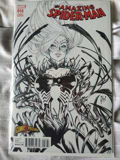 Marvel comics Amazing spider-man 16 comicxposure black and white variant by guillenlm march