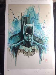 Signed David Mack Limited Batman Art Print