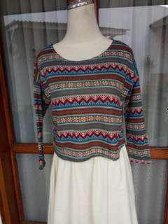 Tribal crop top - baju tribal