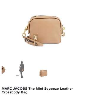 🇨🇦加拿大代購🇨🇦Marc Jacob The Mini Squeeze Leather Crossbody Bag