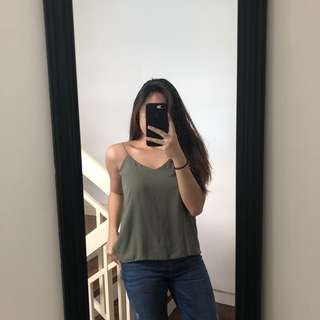 Olive green cami top