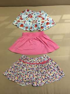 Assorted skirts for 4-5 years old (3 pcs)