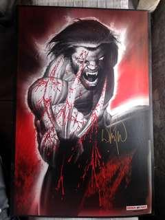 Signed Whilce Portacio Wolverine Art Print