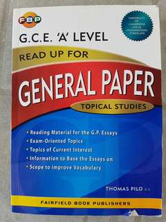 BRAND NEW G.C.E. 'A' LEVEL GENERAL PAPER TOPICAL STUDIES
