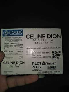 CELINE DION TICKET DISCOUNTED