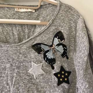 M&S Indigo Blouse with Patch