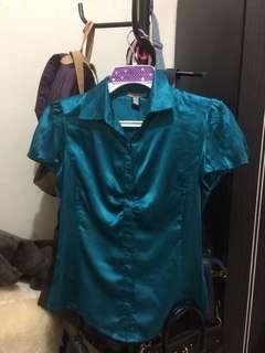Mango Shirt Satin - Sateen Plain Kemeja