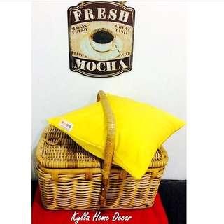 Kylla Home Decor - Sarung Bantal Cushion Cover Yellow