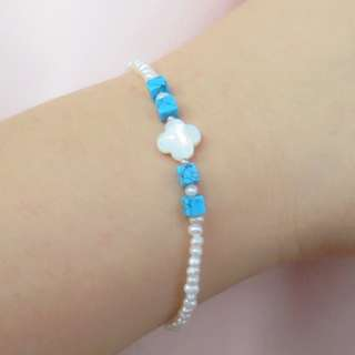 Freshwater pearl bracelet with S925 Silver clasp 天然淡水珠