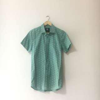🚚 Cotton On Light Green Shirt with Pattern