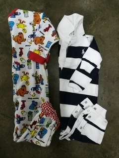 Polo Ralph Lauren and Sesame Street sleepsuits