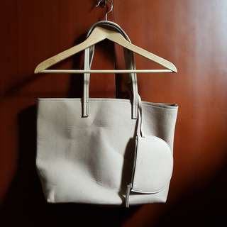 Mango Tote bag with small purse