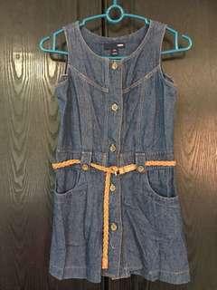 H&M girl Denim Dress Size S (5-6)
