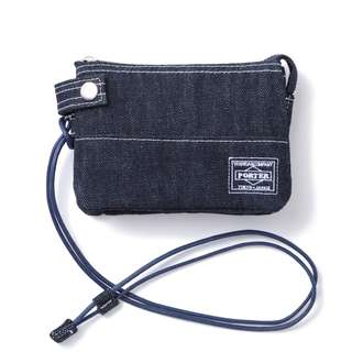 Head Porter Denim Zip Wallet