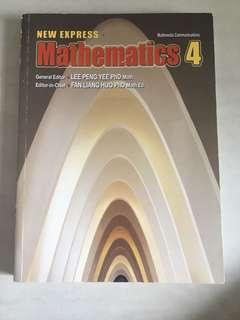 new express math sec 4 textbook