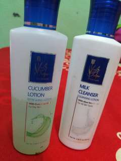 Latulip milk cleanser dan cucumber lotion.