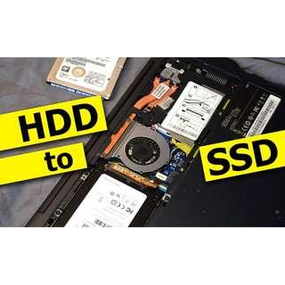 專業 升級 更換 SSD 加RAM 固態硬碟 HDD 機械硬碟 無痛升級  Notebook Desktop