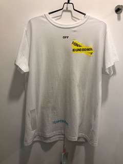 Off white Firetape tee