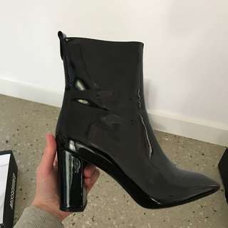 Missguided patent boots