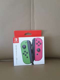 Nintendo Switch Neon Pink and Green Joycon controller