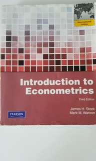 Pearson Introductiom to Econometrics Third Edition by James H. Stock and Mark M. Watson