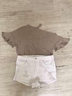 Mango Top + H&M Short