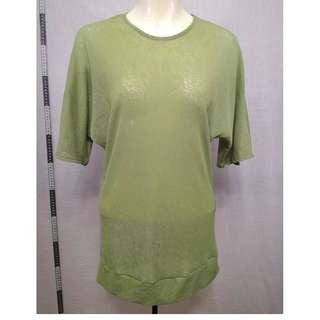 🚚 11118170-Antique ROMI et KEI foliage green raglan sleeve shirt古著葉綠色連肩袖襯衫