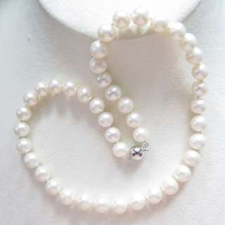 Freshwater pearl necklace with S925 Silver Clasp 天然淡水珍珠