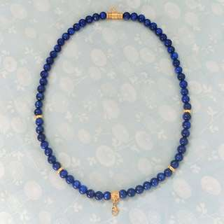 Brand New Kyanite necklace 8mm with 2 hoop