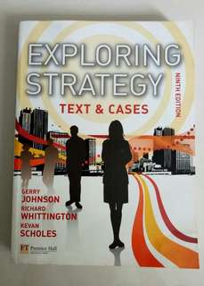 Exploring Strategy MBA textbook 9th edition