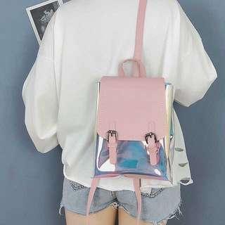 Holographic Backpack for Girls School Bag Small Ulzzang kpop Korean