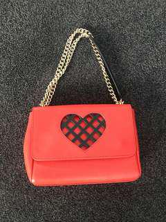 Moschino red heart bag