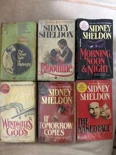 Sidney Sheldon Books P60 each; Take all P300