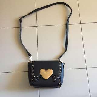Heart Stud Sling Bag