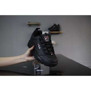 FILA Disruptor in Triple Black (preorder)