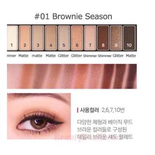 NATURE REPUBLIC PROTOUCH EYESHADOW PALETTE BROWNIE SEASON