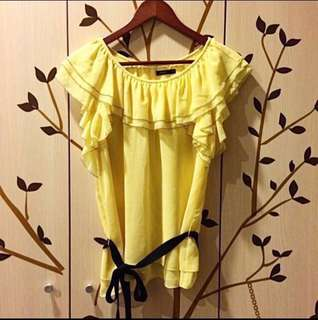 🚚 MOMA粉黃浪漫上衣
