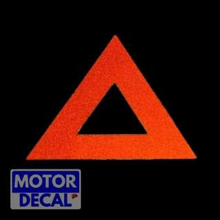 Mini Safety Triangle Reflective Decal
