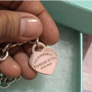 Authentic Tiffany Heart tag bracelet
