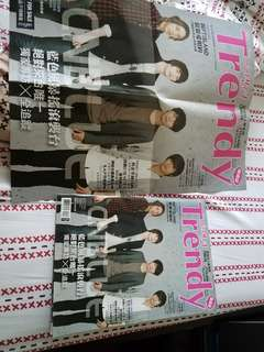 CNBlue magazine with poster,  one new 2gather poster, all sell together