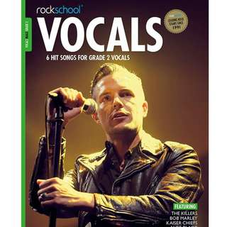 *SALE* BRAND NEW Rockschool Male Vocals Book (Grade 2 / 3 / 5)