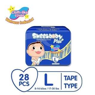 Sweet Baby Plus Tape Diaper