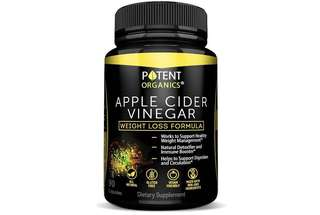 [IN-STOCK] 100% Organic Apple Cider Vinegar - 90 Capsules for Healthy Diet & Weight Loss- Pure, Raw, Vegan and Non-GMO - Supports Body Detox - Made in USA - Add to Garcinia Cambogia - Potent Organics